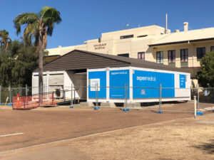 Aspen Medical's modular mobile health unit at Longreach Hospital